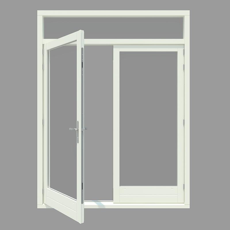 Glasdeuren binnen keuken - Glazen hoofdbord ...