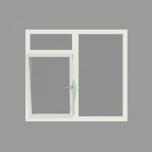 3-vaks kozijn inclusief 1x draai-kiepraam en bovenlicht. - Houten Kozijn Online