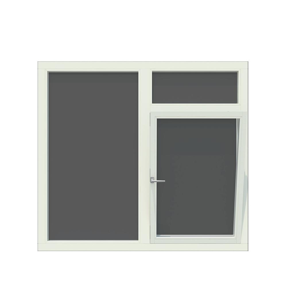 3-vaks kozijn inclusief 1x draai-kiep raam en bovenlicht. - Houten Kozijn Online