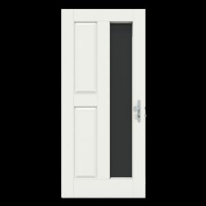 Voordeur met groot verticaal raam