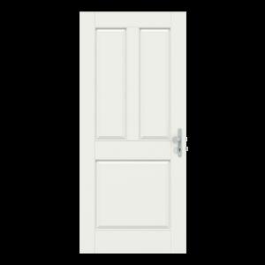 Voordeur met 3 vakken zonder raam