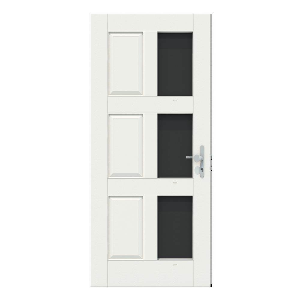 Voordeur met 3 ramen aan de rechterkant