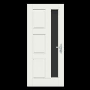 Voordeur met verticaal raam aan de rechterkant
