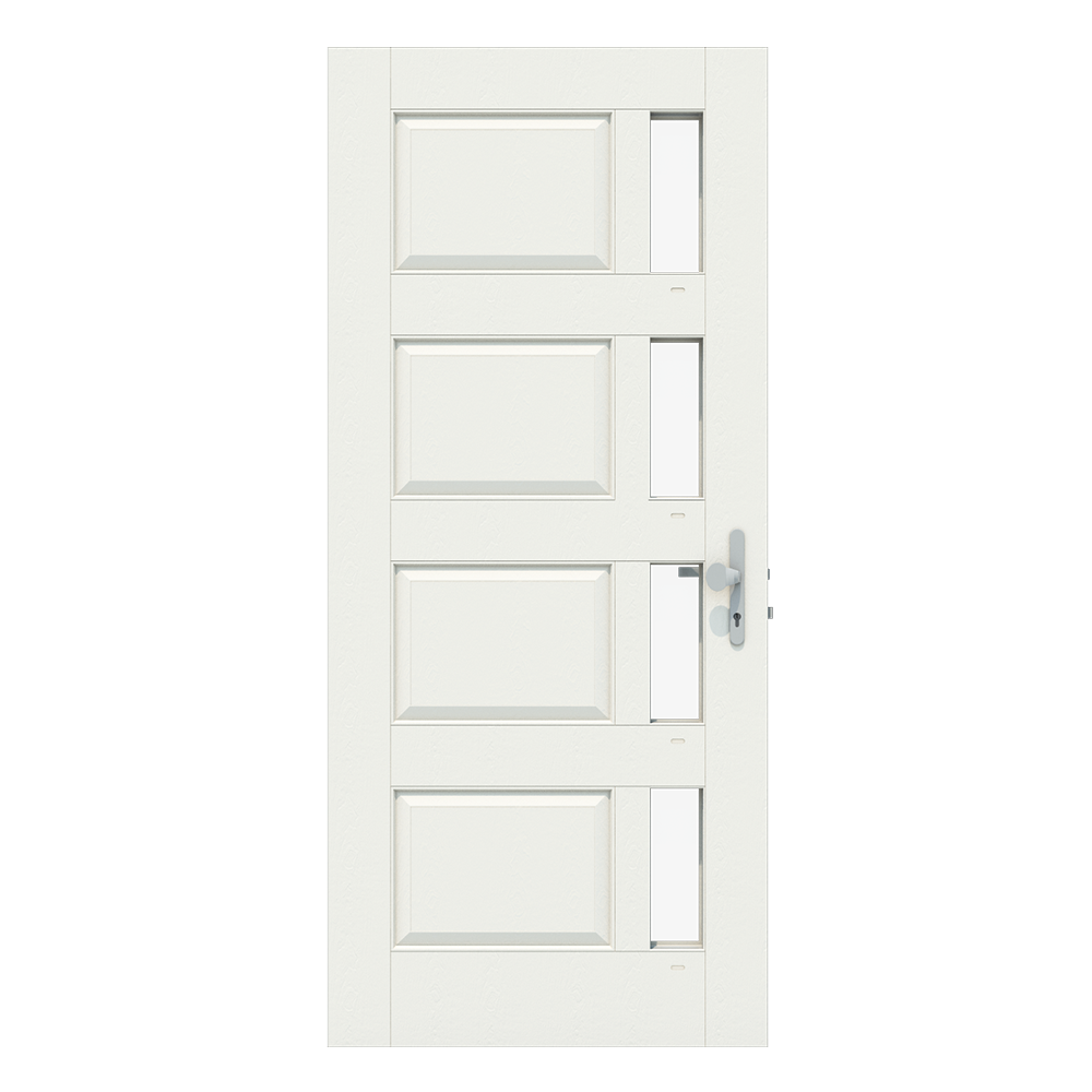 Voordeur met 4 losse ramen aan rechterkant