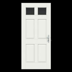 Voordeur met 2 hoge ramen