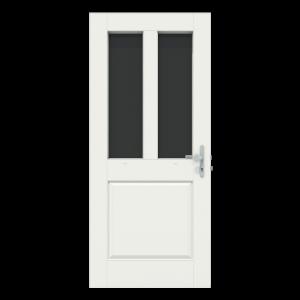 Voordeur met 2 verticale ramen