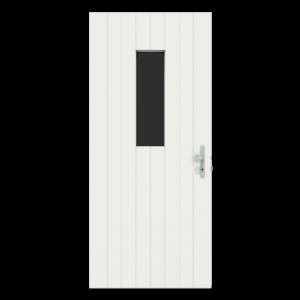 Voordeur met verticaal raam