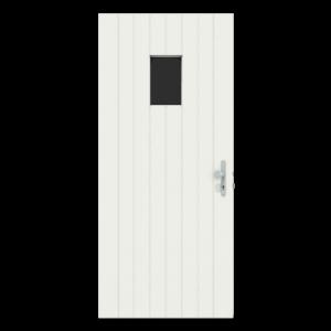 Voordeur met klein raam boven